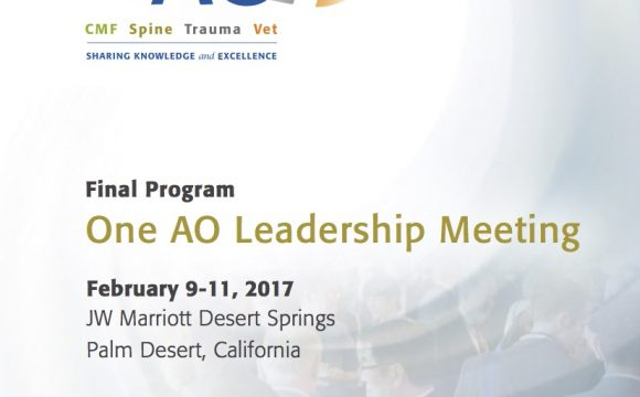 Feb 2017: One AO Leadership Meeting, February 9th-11th, 2017, Palm Desert, California
