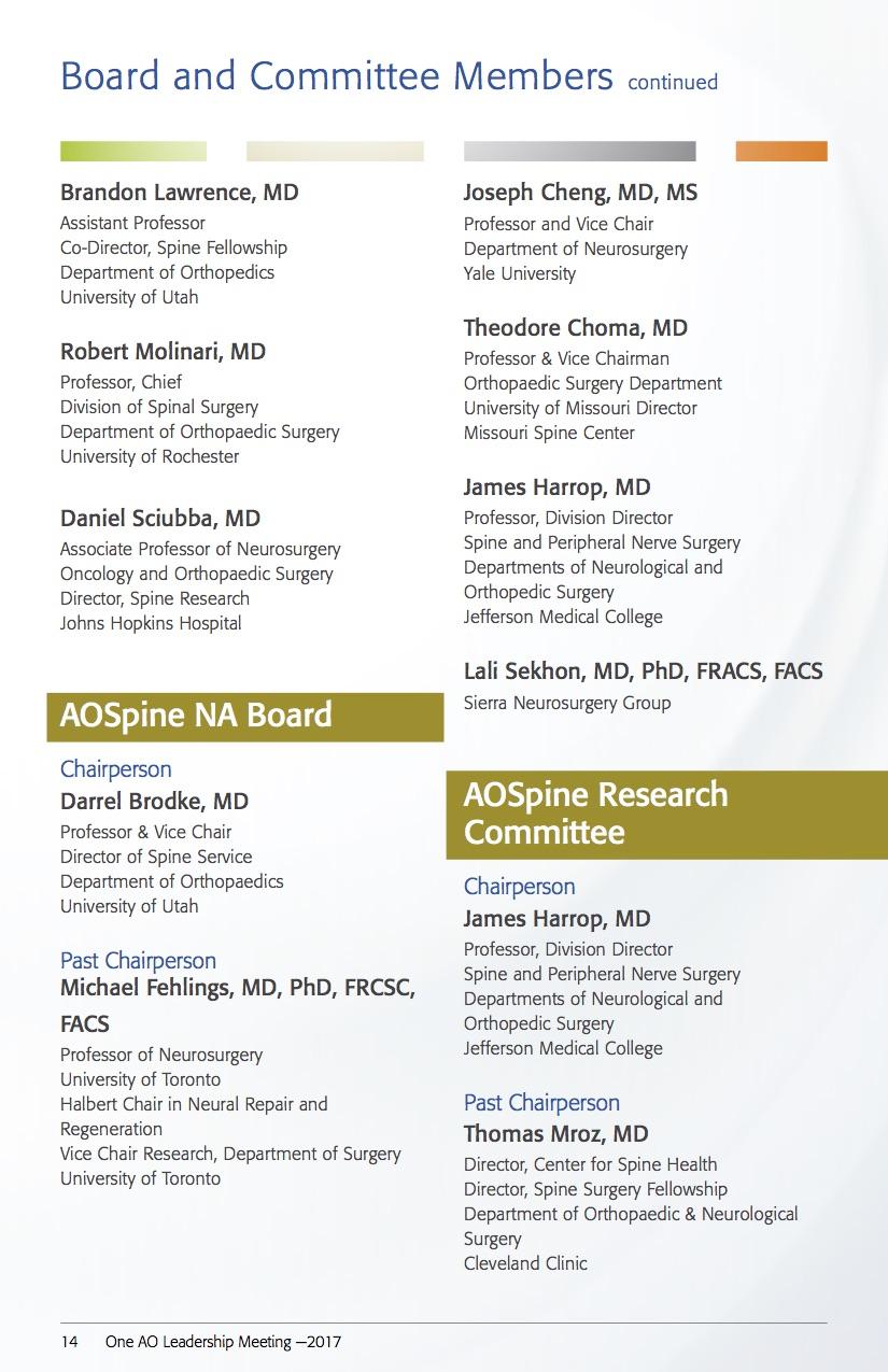 Feb 2017: One AO Leadership Meeting, February 9th-11th, 2017, Palm Desert, California