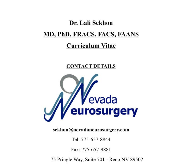 Staff Archives - Nevada Neurosurgery