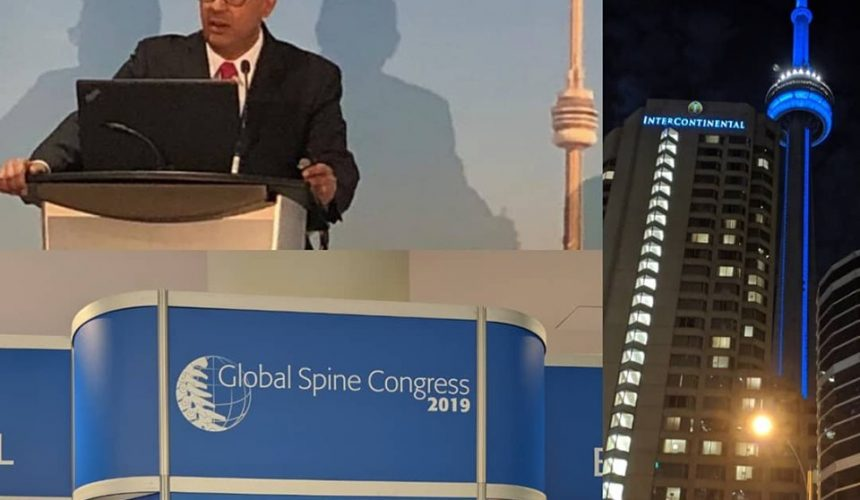 May 2019: A privilege to speak at the Global Spine Congress