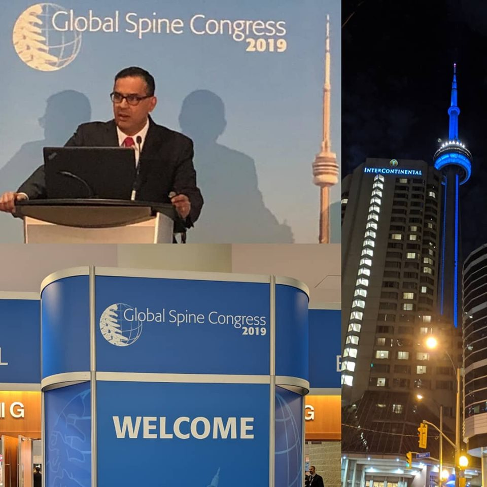 May 2019: A privilege to speak at the Global Spine Congress in Toronto, Canada