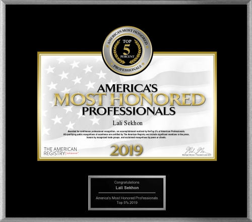 Oct 2019: America's Most Honored Professionals 2019