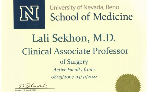 Oct 2019: UNR Reappointment