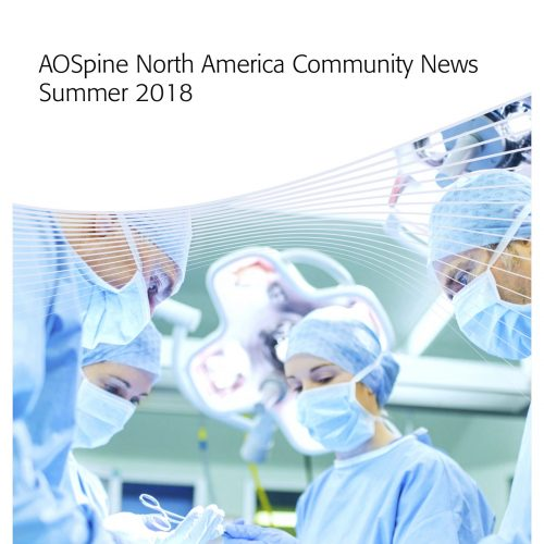 AOSpine North America Community News Summer 2018