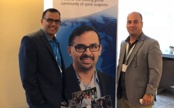 August 2018: Teaching with Eric Massicotte at the AO Spine Residents and Fellows Course Las Vegas