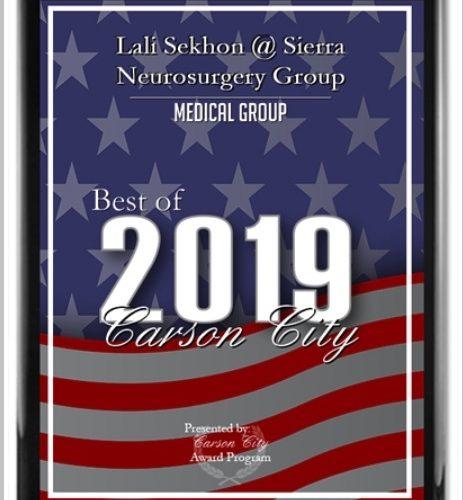 Oct 2019: Best of Carson City 2019 Award
