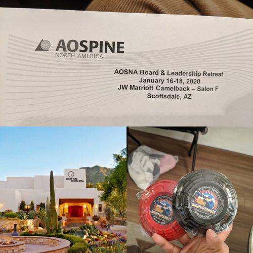 Jan 2020: AO Spine North America Board & Leadership Retreat, Phoenix AZ