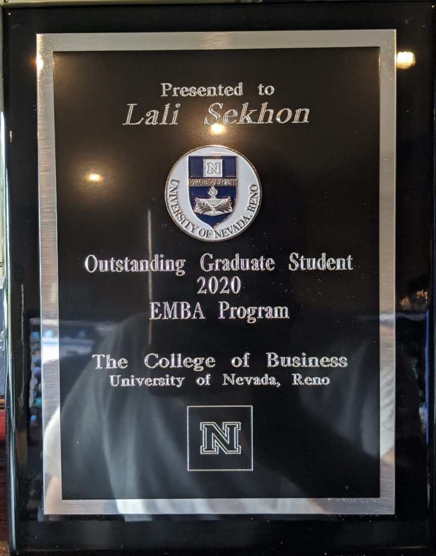 August 2020: Outstanding Graduate Student Award 2020